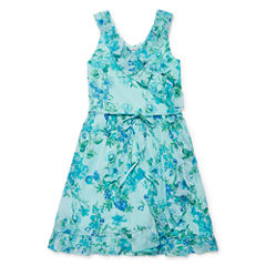 Speechless Sleeveless Dress Set - Big Kid Girls
