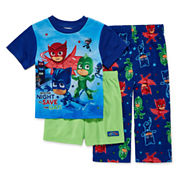 Boys 3-pc. Long Sleeve Kids Pajama Set-Toddler