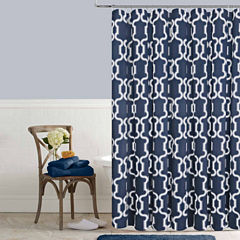 Colordrift Lorna Printed Shower Curtain