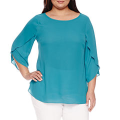 Worthington® Tulip Sleeve Blouse - Plus