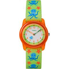 Timex Boys Green Strap Watch-Tw7c134009j