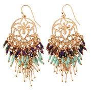 Natasha Accessories Blue Crystal Drop Earrings