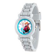 Disney Frozen Girls Gray Strap Watch-Wds000133