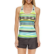 ZeroXposur® Stripe Tankini Swimsuit Top or Action Shorts