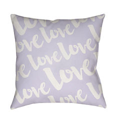 Decor 140 Eternal Love With White Text Square Throw Pillow