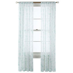 MarthaWindow™ Trailing Vine Rod-Pocket Sheer Panel