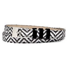 Liz Claiborne® Chevron Straw Belt