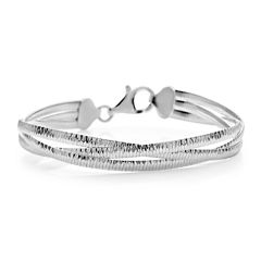 Made in Italy Sterling Silver Omega Braid Bracelet