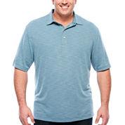 Van Heusen Short Sleeve Pin Dot Knit Polo Shirt Big and Tall