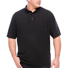 Van Heusen Short Sleeve Flex Stretch Solid Knit Polo- Big and Tall