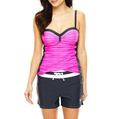 Free Country® Stripe Bandeaukini Swim Top or Drawstring Swim Shorts
