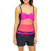 Free Country® Colorblock Tankini Swim Top or Drawstring Swim Shorts