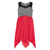 Speechless® Stripe Illusion Neck Sharkbite Dress - Girls 7-16