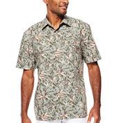 Island Shores™ Short-Sleeve Printed Camp Shirt