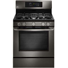 LG Black Stainless Steel Series 5.4 cu. ft. Capacity Freestanding Gas Range with EasyClean®