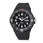 Casio® Mens Black Resin Strap Diver Sport Watch MRW200H-1BV