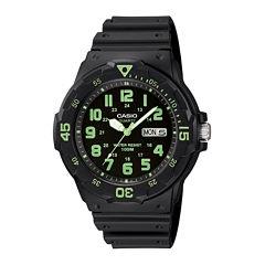 Casio® Mens Black Resin Strap Diver Sport Watch MRW200H-3BV