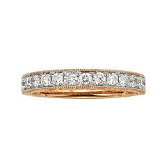 1/2 CT. T.W. Certified Diamond 14K Rose Gold Wedding Band