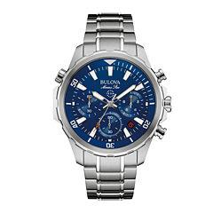 Bulova® Marine Star Mens Stainless Steel Chronograph Watch 96B256