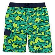 Arizona Comic Sharks Swim Trunk - Toddler Boys 2t-5t