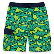 Arizona Comic Sharks Swim Trunk - Preschool Boys 4-7