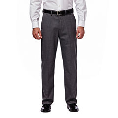 Haggar® Premium Stretch Grey Flat-Front Suit Pants - Clasic Fit