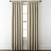 Liz Claiborne® Fleur Jacquard Pinch-Pleat/Back-Tab Room-Darkening Curtain Panel