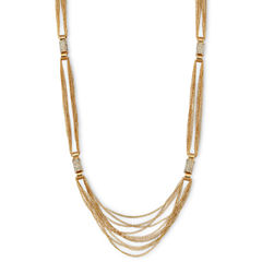 nicole by Nicole Miller® Gold-Tone & Pavé Crystal Necklace