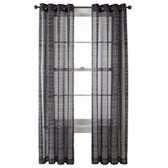Studio™ Gridlines Grommet-Top Sheer Panel
