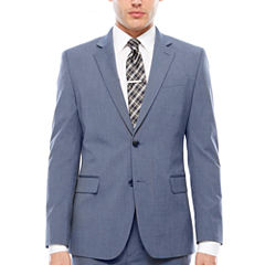 JF J. Ferrar Stretch Light Blue Slim Jacket