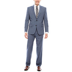 JF J. Ferrar Texture Stretch Light Blue Suit Separates- Classic Fit