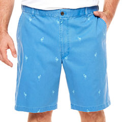 IZOD Chino Shorts-Big and Tall
