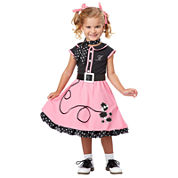 Buyseasons 50s Poodle Cutie Toddler Costume 5-pc. Dress Up Costume-Toddler Girls