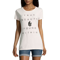 Beauty and the Beast Graphic T-Shirt- Juniors