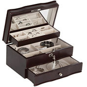 Mele & Co. Davina Locking Wood Jewelry Box