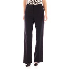 Black Label by Evan-Picone Flat-Front Pants