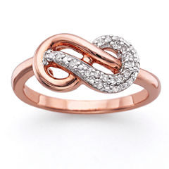 Infinite Promise 1/10 CT. T.W. Diamond 14K Rose Gold Over Silver Infinity Ring