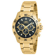 Invicta Specialty Mens Gold Tone Bracelet Watch-21487