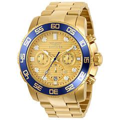 Invicta Pro Diver Mens Gold Tone Bracelet Watch-22227