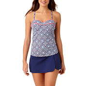 Liz Claiborne Medallion Tankini Swimsuit Top or Swim Skirt