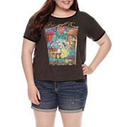 Beauty and the Beast Graphic T-Shirt- Juniors Plus