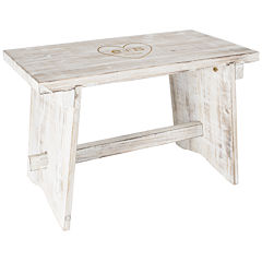 Cathy's Concepts Personalized Heart Rustic Wooden Guestbook Bench