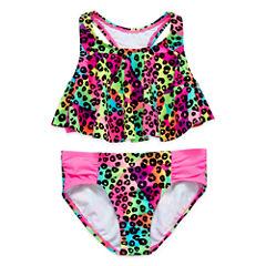St. Tropez Girls Solid Bikini Set - Big Kid