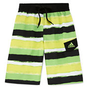 Adidas Boys Pattern Trunks-Big Kid