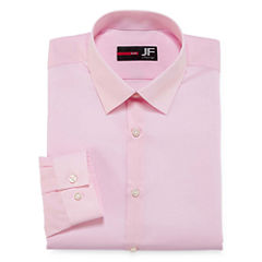 J.Ferrar Easy-Care Solid Big & Tall Long Sleeve Dress Shirt