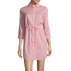 St. John's Bay Long Sleeve Shirt Dress