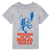 Disney Short Sleeve Lilo & Stitch T-Shirt-Big Kid Boys