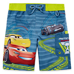 Disney Boys Cars Solid Trunks-Big Kid