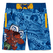 Disney Boys Moana Solid Trunks-Big Kid