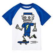 Okie Dokie® Graphic Raglan Tee - Toddler Boys 2t-5t
